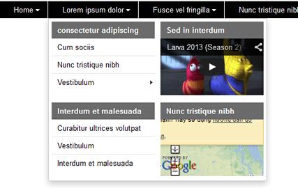 1387448812 منو ساز حرفه ای sw menu pro برای جوملا  - گلچین آنلاین