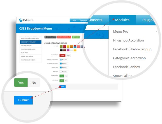2-CSS3-Dropdown-Menu منو ساز حرفه ای sw menu pro برای جوملا  - گلچین آنلاین