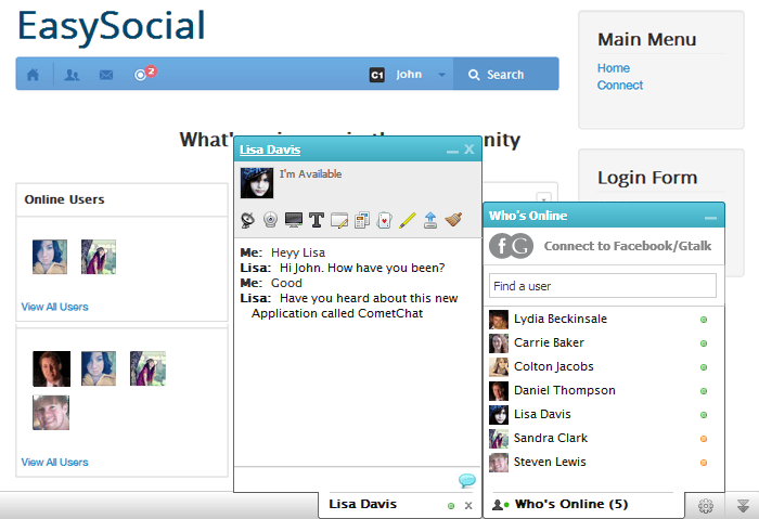EasySocial With CometChat