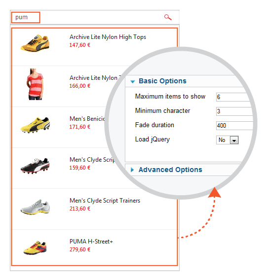Virtuemart Ajax Search Pro Module1