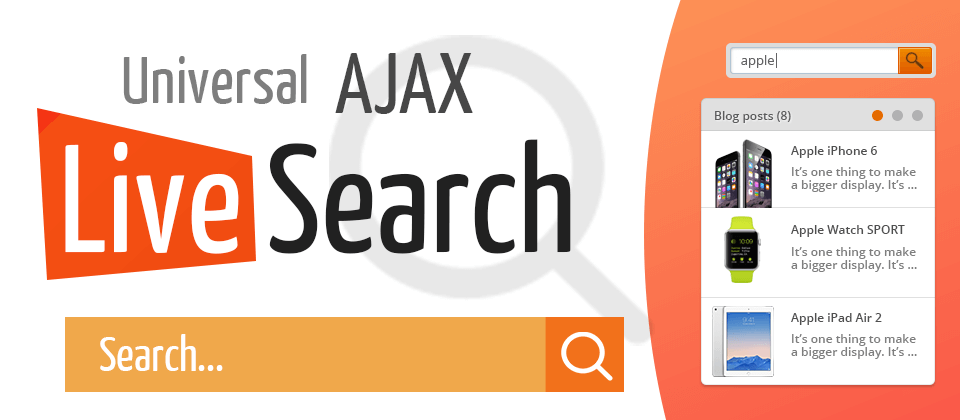 universal ajax search for joomla