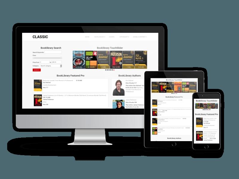 8722 کتابخانه آنلاین جوملا OS BookLibrary  - گلچین آنلاین
