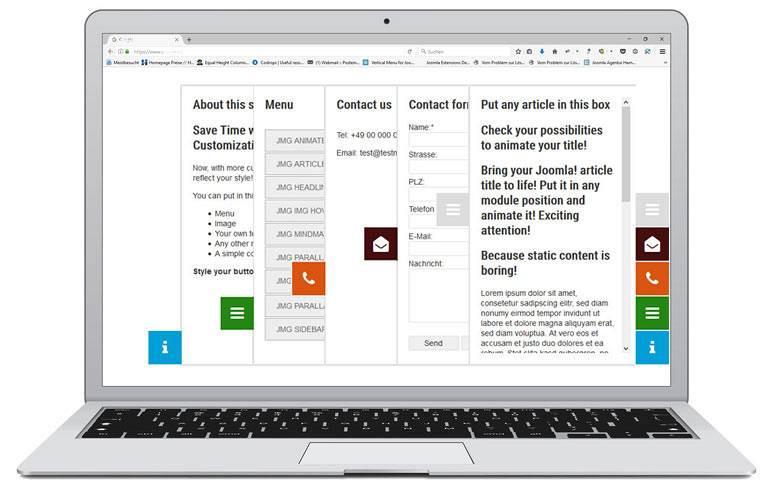 JMsidebar ماژول ساخت منوی آکاردئونی BT Accordion Menu  - گلچین آنلاین