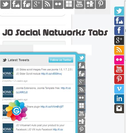 JosocialnetworkTabs ارسال و اشتراک مطالب در شبکه های اجتماعی در جوملا JFBConnect  - گلچین آنلاین