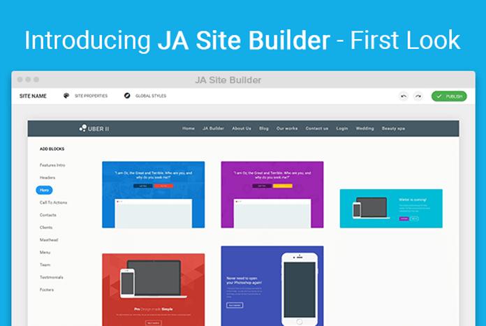 ja-site-builder(1) صفحه ساز پیشرفته جوملا Quix Pagebuilder  - گلچین آنلاین