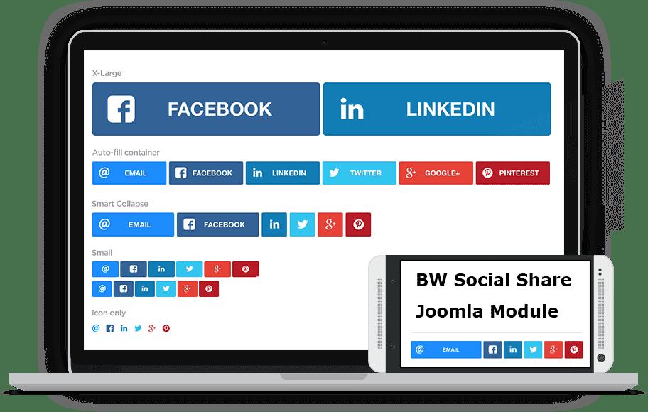 mod_bw_social_share ارسال و اشتراک مطالب در شبکه های اجتماعی در جوملا JFBConnect  - گلچین آنلاین