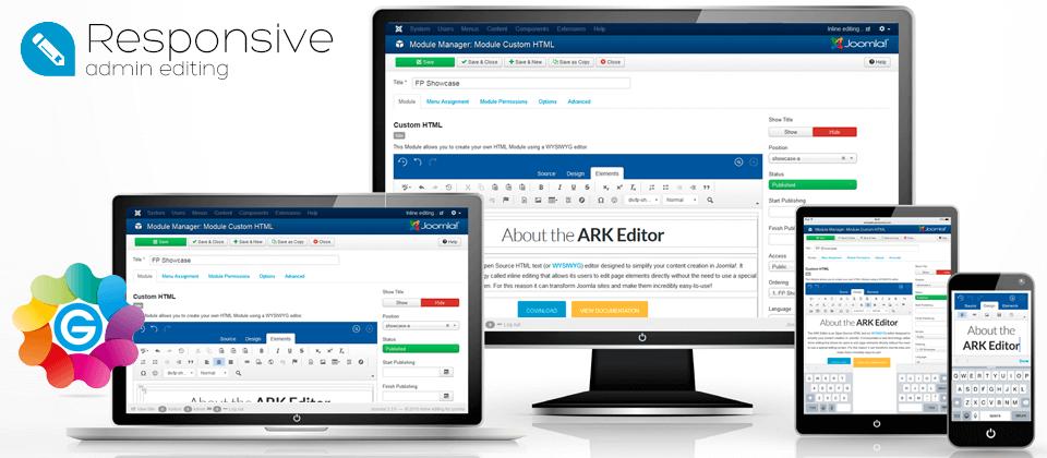 responsive-admin_JEDbanners آخرین نسخه فارسی ویرایشگر  JCE editor Pro نسخه تجاری - گلچین آنلاین