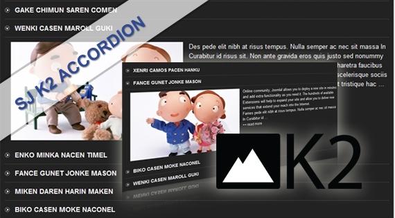 sjk2according نمایش موزائیکی مطالب با SJ Grid Slider For K2 - گلچین آنلاین