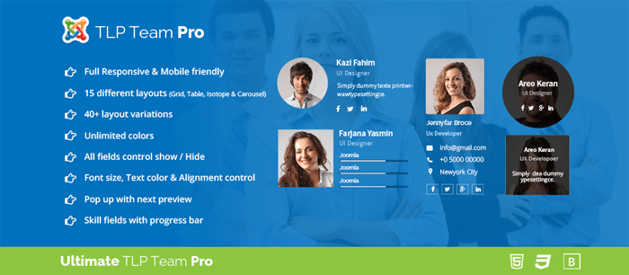 tlpteampro ماژول نمایش اعضای شرکت Team Chart  - گلچین آنلاین